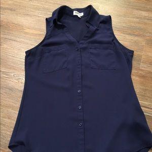 Express sleeveless navy tank top